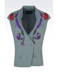Emporio Armani - Blue Jacket - Lyst