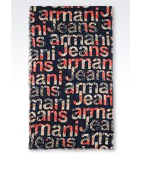 Armani Jeans - Blue Scarf for Men - Lyst