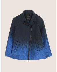 Armani Exchange - Blue Ombre Jacquard A-line Jacket - Lyst