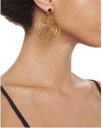 Arme De L'Amour   Metallic 7 Layer Bamboo Hoop Earrings   Lyst