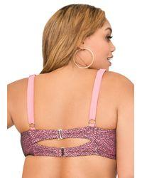 Ashley Stewart Multicolor Neon Underwire Bikini Top