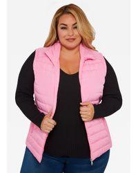 Ashley Stewart - Asgives Breast Cancer Awareness Pink Puffer Vest - Lyst