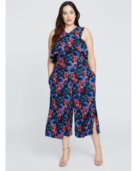 272f1719fd23 Lyst - Ashley Stewart Plus Size Rachel Rachel Roy Jolie Jumpsuit in Blue