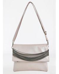 Ashley Stewart - Pink Shoulder Bag With Chain Detail - Lyst