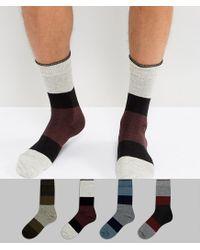 Jack & Jones - Multicolor 4 Pack Socks for Men - Lyst