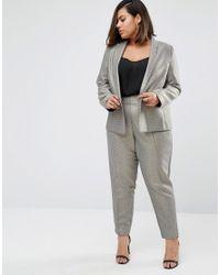 ASOS | Slim Blazer In Metallic Jacquard | Lyst
