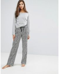 Calvin Klein - Gray Pj In A Bag Long Sleeve Sleep Set - Lyst