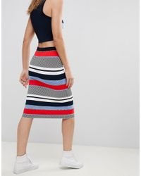 Tommy Hilfiger - Multicolor Pilaux Graphic Pencil Skirt - Lyst
