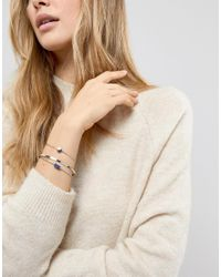 ASOS - Metallic Pack Of 3 Stone And Shape Cuff Bracelets - Lyst