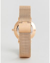 Cluse - Metallic X Negin Clg006 Minuit Mesh & Velvet Interchangable Strap Watch Gift Box - Lyst