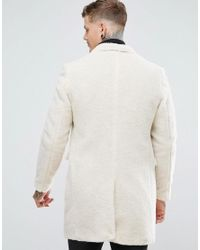 Noose And Monkey Natural Borg Overcoat for men