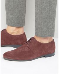 HUGO - Red By Boss Paris Suede Derby Shoes for Men - Lyst