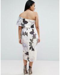 ASOS - Multicolor One Shoulder Floral Midi Dress - Lyst