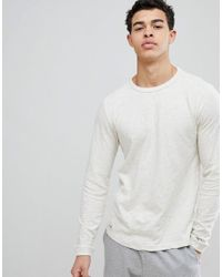 972627c024384 Lyst - Tommy Hilfiger Crew Neck Long Sleeve Top in White for Men
