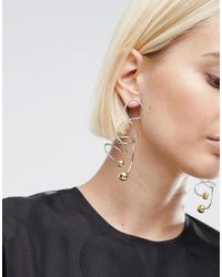 ASOS - Multicolor Abstract Wire Earrings - Lyst