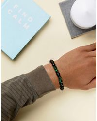Seven London - Black Beaded Bracelet - Lyst