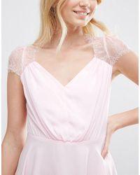 ASOS - Pink Kate Lace Mini Dress - Lyst