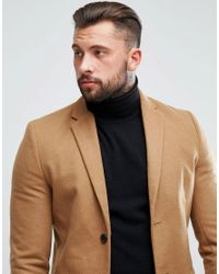 New Look - Multicolor Single Breasted Overcoat In Camel for Men - Lyst