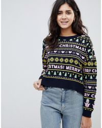 2ecb9605edec1 ASOS - Multicolor Christmas Sweater - Lyst