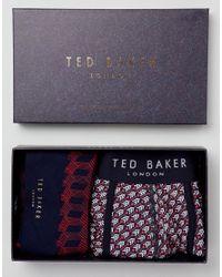 Ted Baker - Multicolor Trunks & Socks Gift Box for Men - Lyst