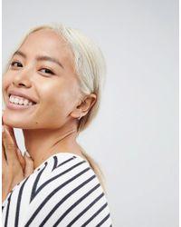ASOS - Metallic Sterling Silver Twist Wrap Hoop Earrings - Lyst
