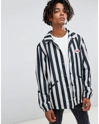 Volcom - Brews Striped Coach Jacket In White for Men - Lyst