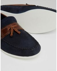 Red Tape - Blue Loafers In Navy Suede for Men - Lyst