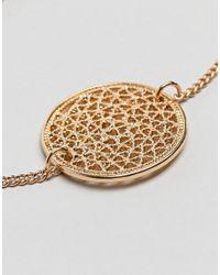 ASOS - Metallic Asos Filigree Disc Charm Bracelet - Lyst