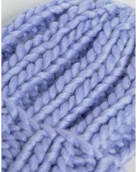 ASOS DESIGN - Purple Extra Chunky Beanie - Lyst