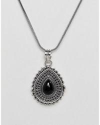 Reclaimed (vintage) - Metallic Inspired Pendant Locket Necklace - Lyst