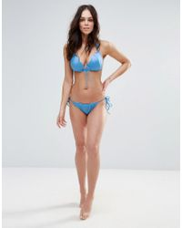 ASOS - Blue Fuller Bust Exclusive Mermaid Tie Side Tanga Bikini Bottom - Lyst