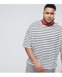 ASOS - Multicolor Plus Oversized Stripe T-shirt for Men - Lyst