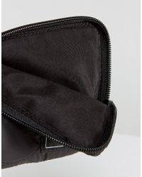 ASOS - Zip Around Wallet In Black Quilted Design - Lyst