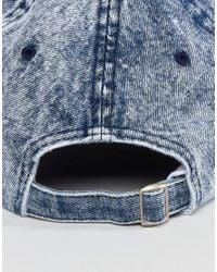 New Look - Denim Cap In Mid Wash Blue for Men - Lyst