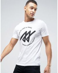 Jack & Jones | White Geometric Print T-shirt for Men | Lyst