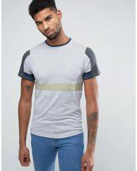 Native Youth | Gray Colour Block T-shirt for Men | Lyst