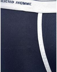 SELECTED | Blue Trunks 2 Pack for Men | Lyst