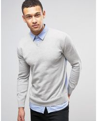 French Connection | Gray Knitted Jumper for Men | Lyst