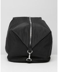Monki - Black Zip Detail Backpack - Lyst