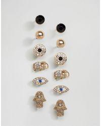 ALDO | Multicolor Multipack Stud Earrings | Lyst