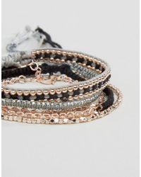 ALDO - Metallic Birnbaum Rose Gold Stacking Bracelets - Lyst