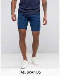 Ted Baker | Blue Tall Chino Short for Men | Lyst