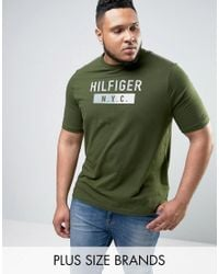 Tommy Hilfiger | Plus Brad T-shirt Nyc Logo In Green for Men | Lyst