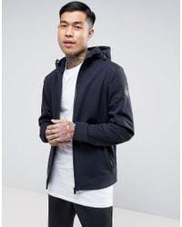 Napapijri | Blue Addison Softshell Jacket Hooded Zipthru In Navy for Men | Lyst