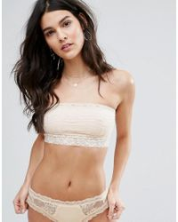 Free People | Pink Scalloped Lace Trim Bandeau | Lyst