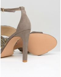 Forever Unique - Natural Willow Multi Strap Heeled Sandal - Lyst