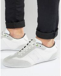 BOSS Green | White By Hugo Boss Lighter Logo Suede Sneakers for Men | Lyst