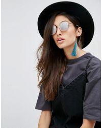 ASOS - Blue Tassel Strand Earrings - Lyst