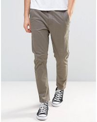 Globe | Brown Slim Fit Chinos for Men | Lyst