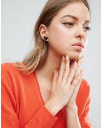 ASOS - Brown Triangle Tortoise Stud Earrings - Lyst